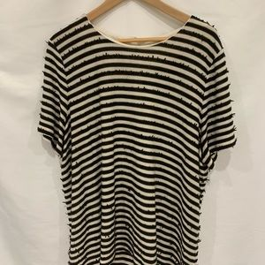 Talbots Petites striped sequined sweater Sz 3XP